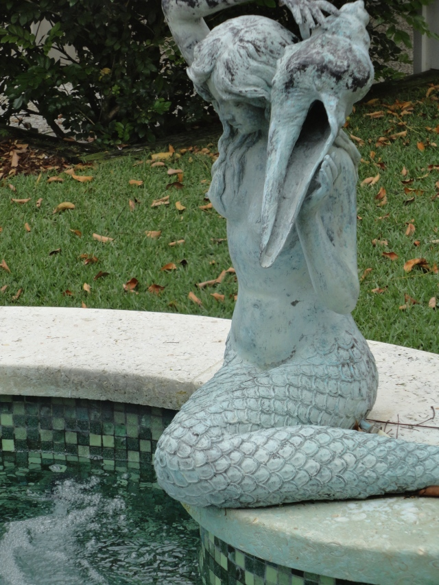 Mermaid fountain