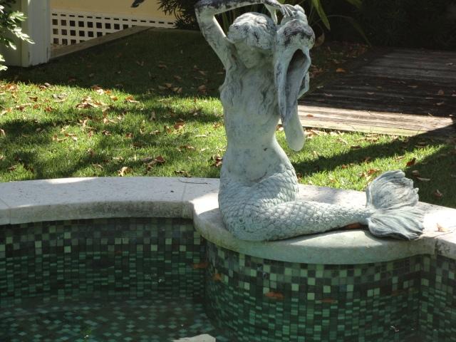 Mermaid by the pool
