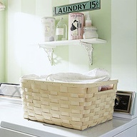 Basket in Laundry Room