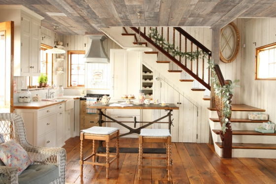 A christmas cottage kitchen
