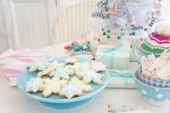 sugar cookies at a christmas gathering