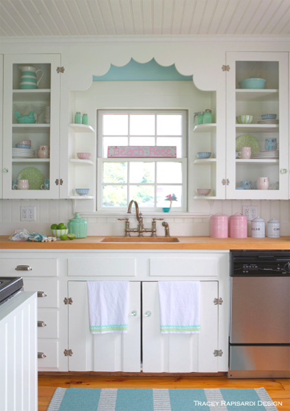 Cottage Kitchen, Beach Kitchen, Open Shelving, Kitchen Cupboard Ideas, Interior Design Ideas, Turquoise, Sarasota Interior Design, Interior Design, Sarasota FL, Beach Style, Cottage Style, Beach House, Beach Style, Shore, Ocean Style, Beach