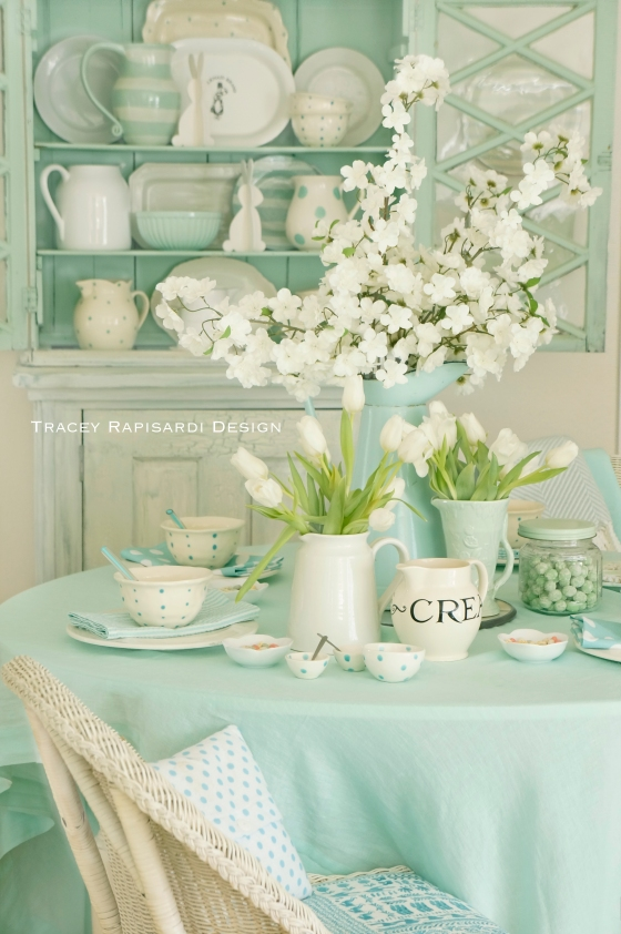 Tracey Rapisardi, Tracey Rapisardi Design, Easter Table Scapes, Easter Decor, Easter Decorating, Mint Green Table, Simply by the Sea, Summer and Company, Interior Design Ideas, Easter Ideas